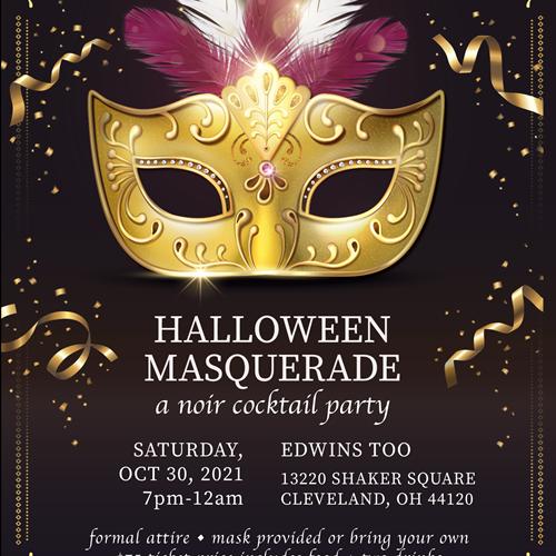 Halloween Masquerade at Edwins Too