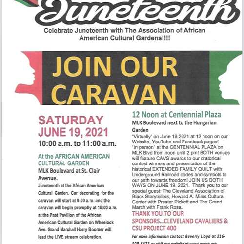 Celebrate Juneteenth with The Association of African American Cultural Gardens