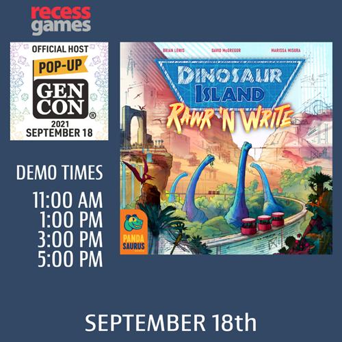 Learn to Play Dinosaur Island: Rawr 'n Write at Pop-up Gen Con