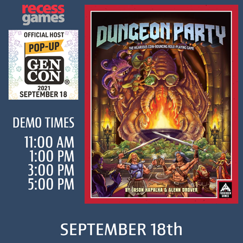 Learn to play Dungeon Party at Pop-up Gen Con