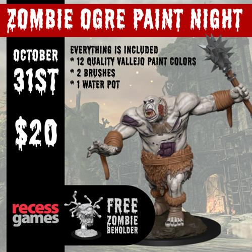 Zombie Ogre Paint Night