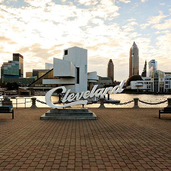 Cleveland Script Sign (North Coast Harbor)