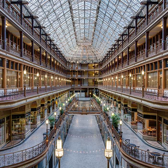 1890 At The Arcade Cleveland Oh