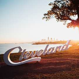Cleveland Script Sign (Edgewater Park)