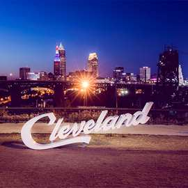 Cleveland Script Sign (Tremont)