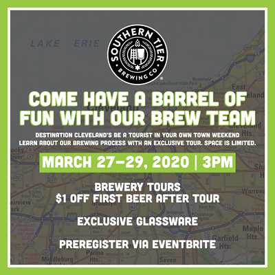 Postponed: Southern Tier CLE Brewery Tour with our Brew Team