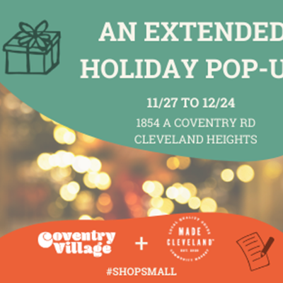 Made Cleveland Extended Holiday Gift Shop In Coventry Village!