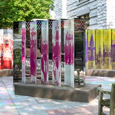 "Rose DeSiano	""Reflect & Refract : Democracy"" Public Sculptures"