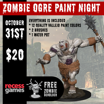 Zombie Ogre Paint Night