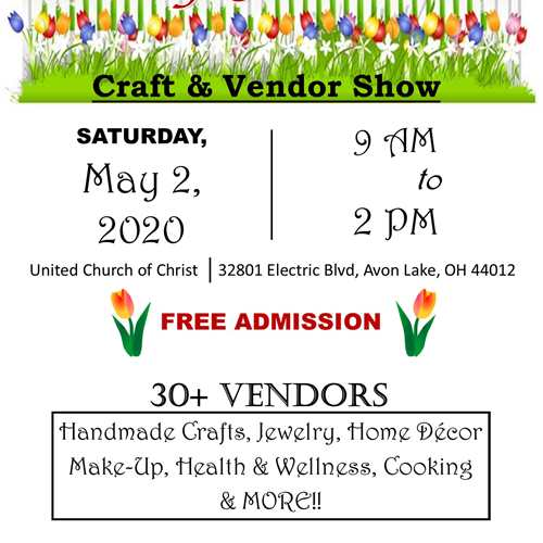 Canceled: May Flowers Craft & Vendor Show