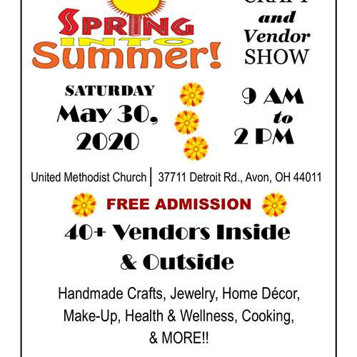 Canceled: Spring into Summer Craft & Vendor Show