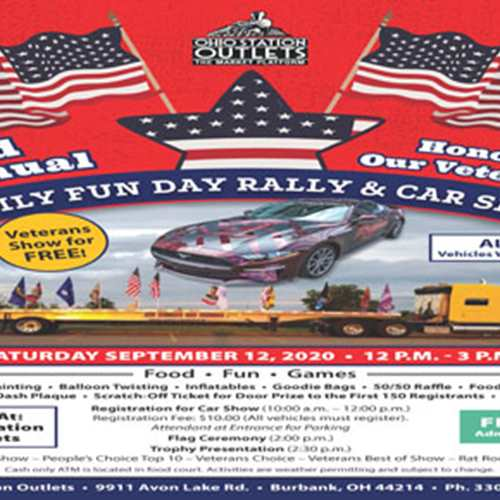 Ohio Station Outlets Mall 3rd Annual Family Fun Day Rally & Car Show