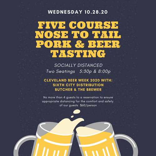 5 Course Nose to Tail Pork & Beer Tasting