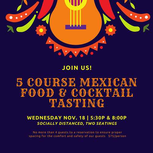 5 Course Mexican and Cocktail Tasting